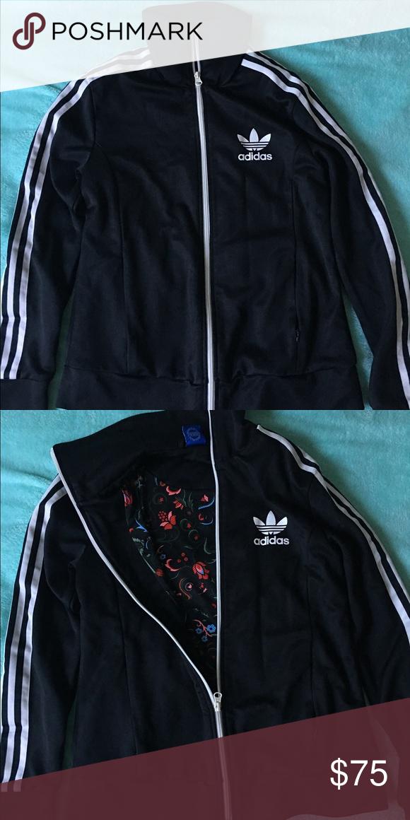 735e344f1dd Adidas floral jacket Brand new, floral design on inside Adidas Jackets &  Coats