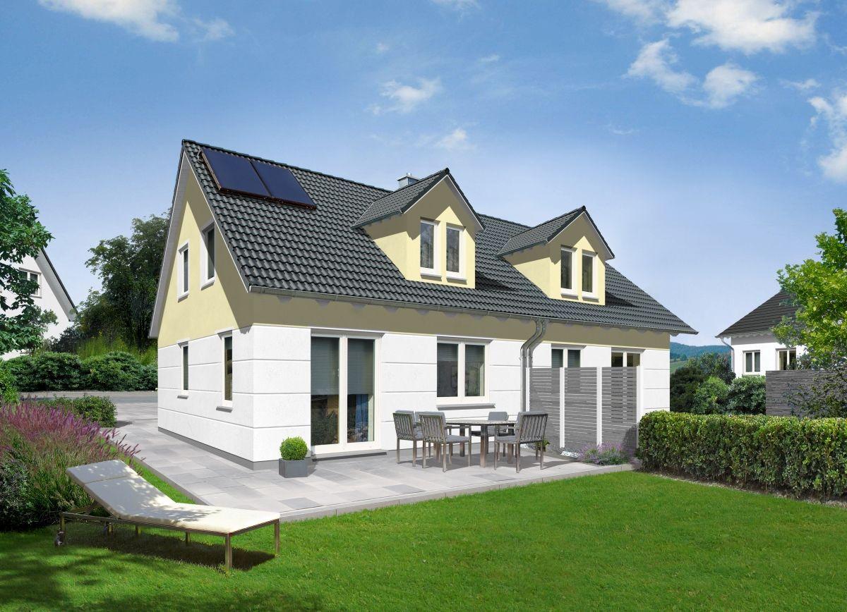 Modernes Doppelhaus im Landhausstil mit Satteldach