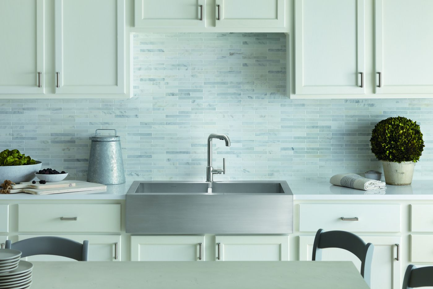 Great sink, I like the tiles in muted colors too | Kitchen ...