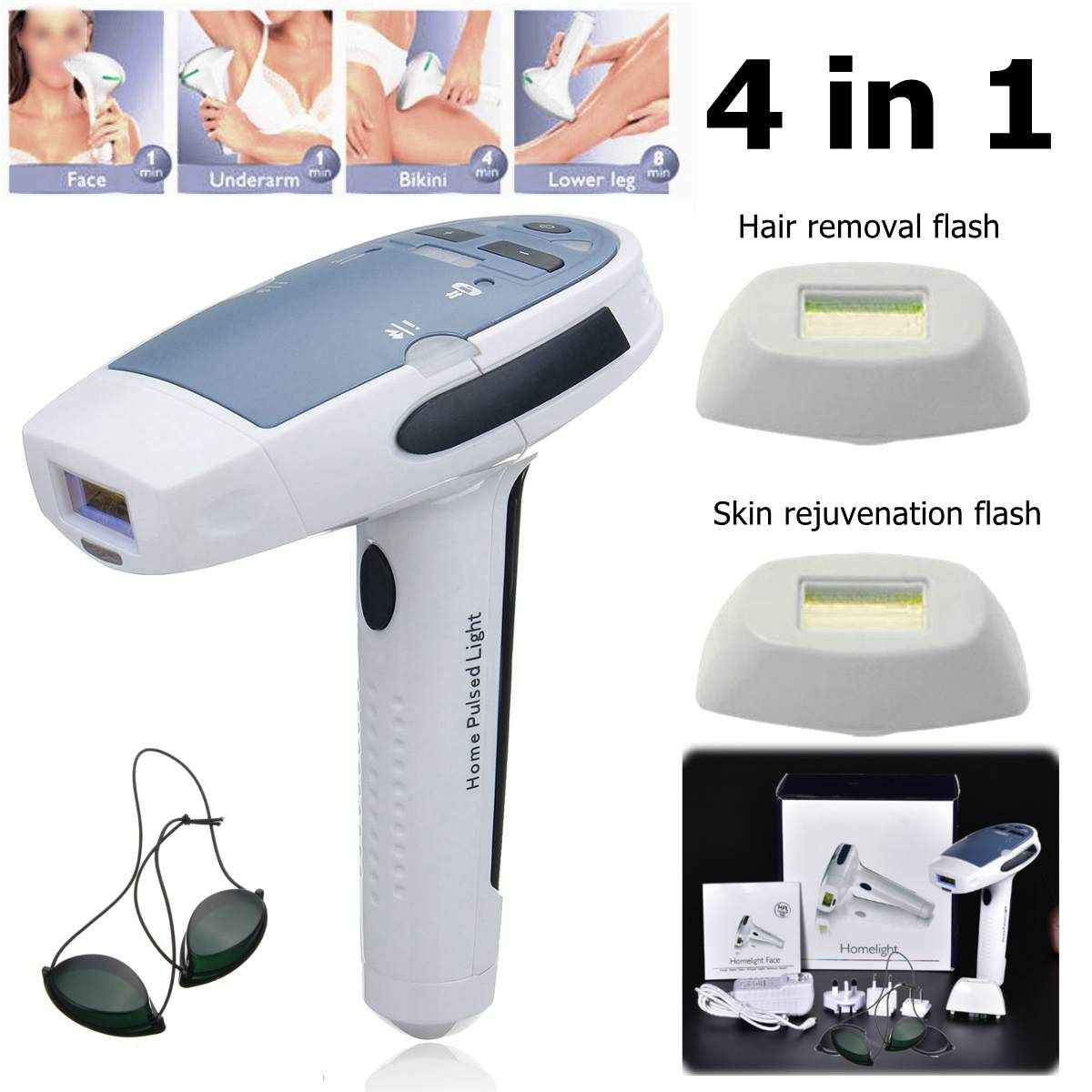 4 In1 Lobemoky 400000 Laser Permanent Hair Removal Machine Body Painless Epilator In 2020 Hair Removal Permanent Hair Removal Hair Removal Machine