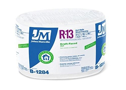R13 Kraft Fiberglass Insulation 40 Sq Ft Coverage 3 5 X 15 In X 32 Ft Rol As Shown Products Fiberglass Insulation Insulation Basement Ceiling Insu