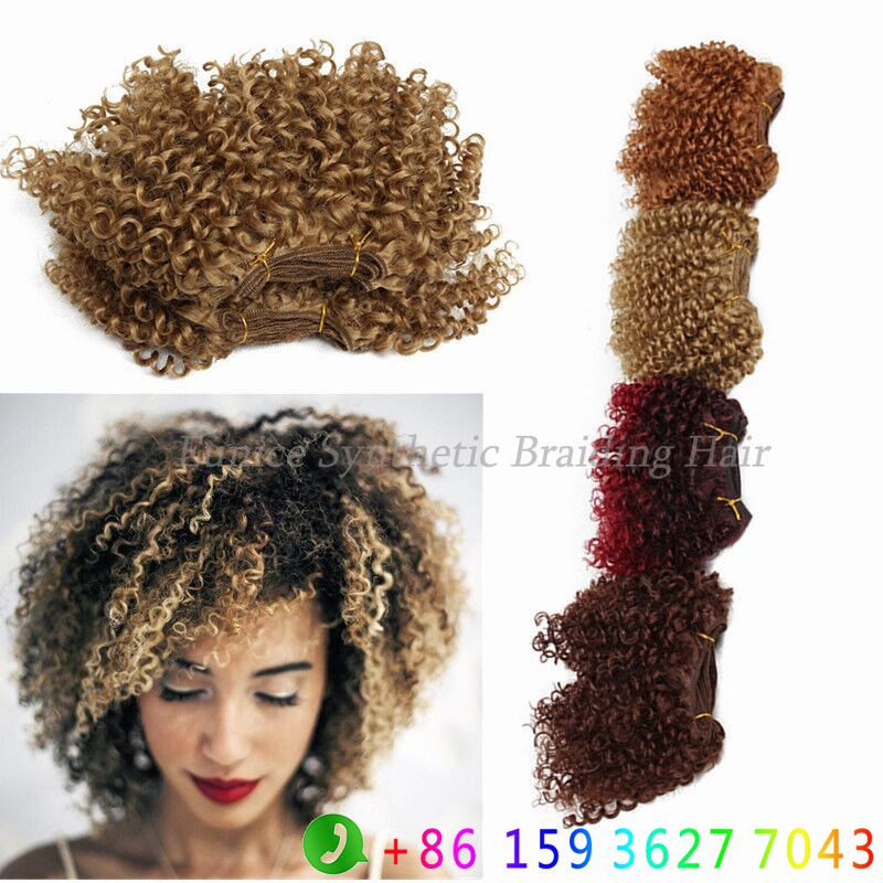 Find More Bulk Hair Information About Short Jerry Curl 3pcs Charme