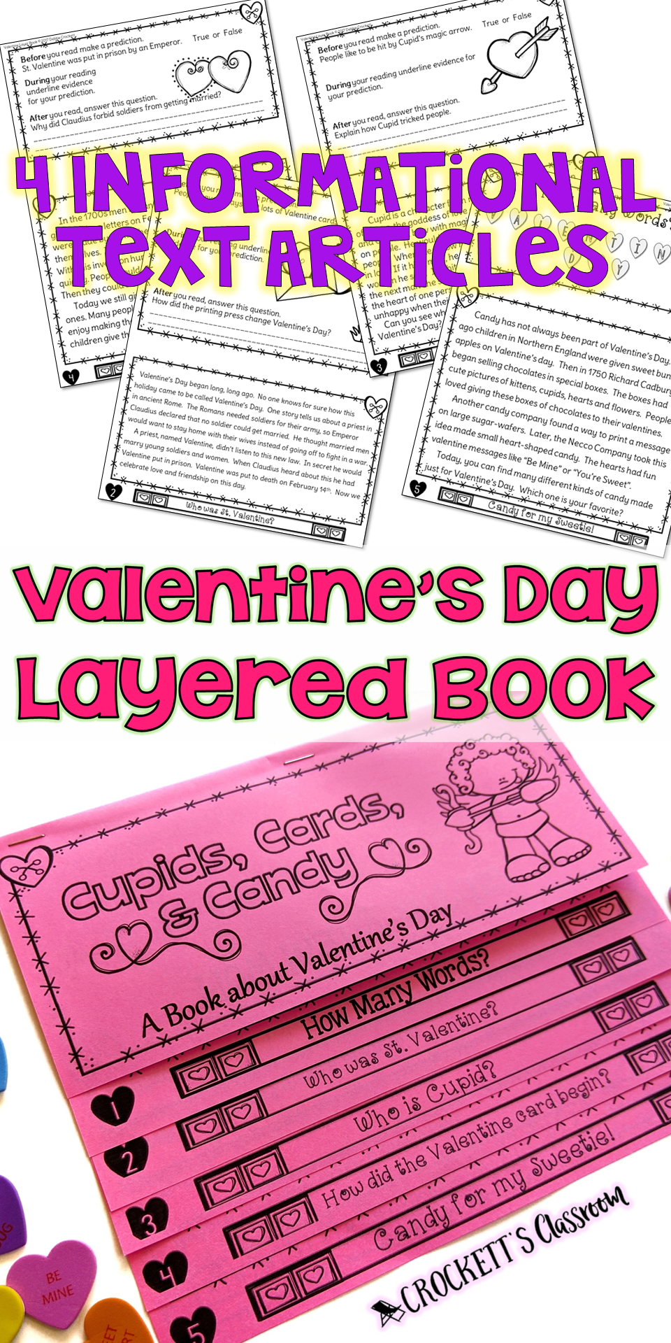Valentine S Day History Booklet Print And For Google Slides Valentines Day History Valentines School Valentines [ 1920 x 960 Pixel ]