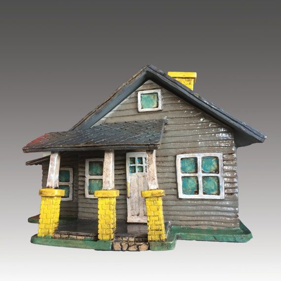 Custom Order Your Very Own Ceramic House Sculpture Architectural Sculpture House Clay House House Ceramic Houses Architectural Sculpture Clay Houses