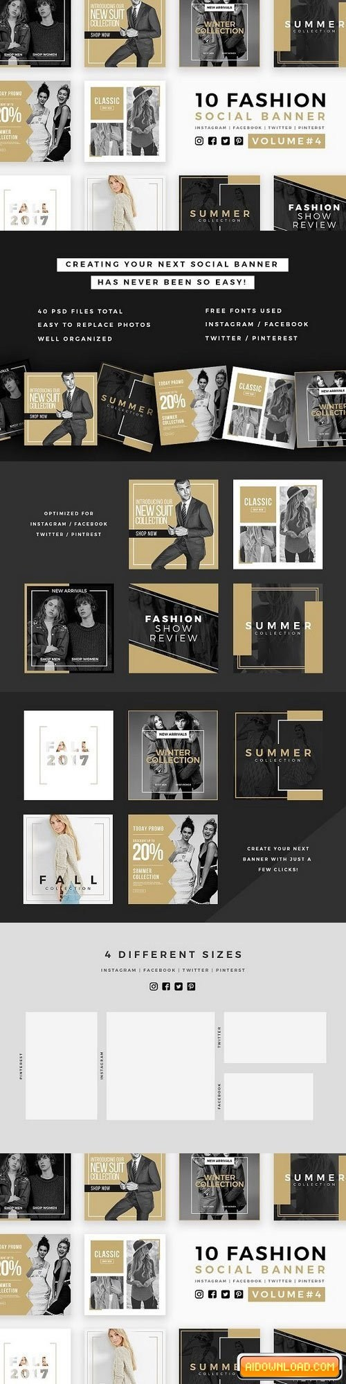 Fashion Social Banner Pack 4 Free Download | Free Graphic Templates ...