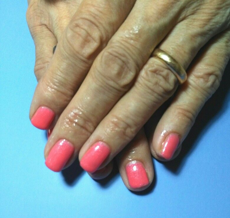 Semipermanente Colore Salmone Nail Art Nail Art Nail Polish
