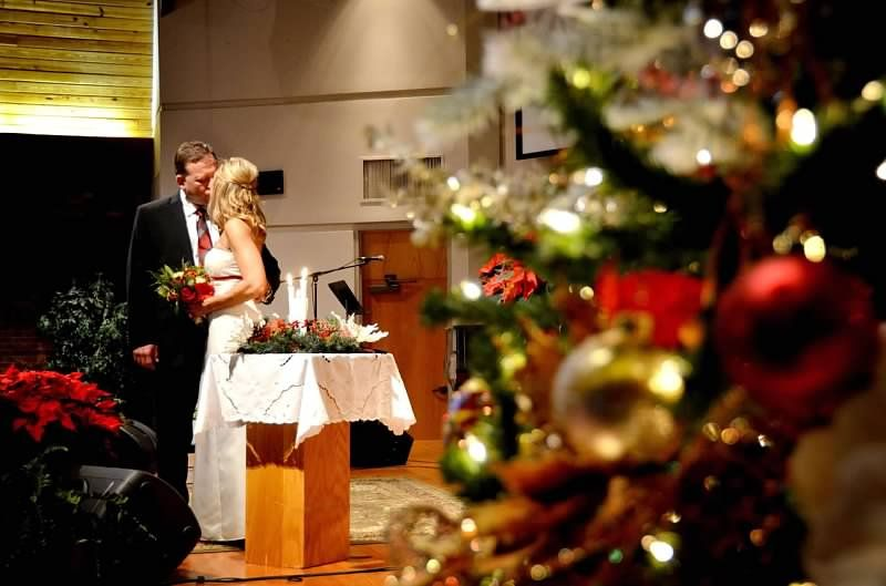 Christmas Wedding  Copyright Amber S. Wallace Photography