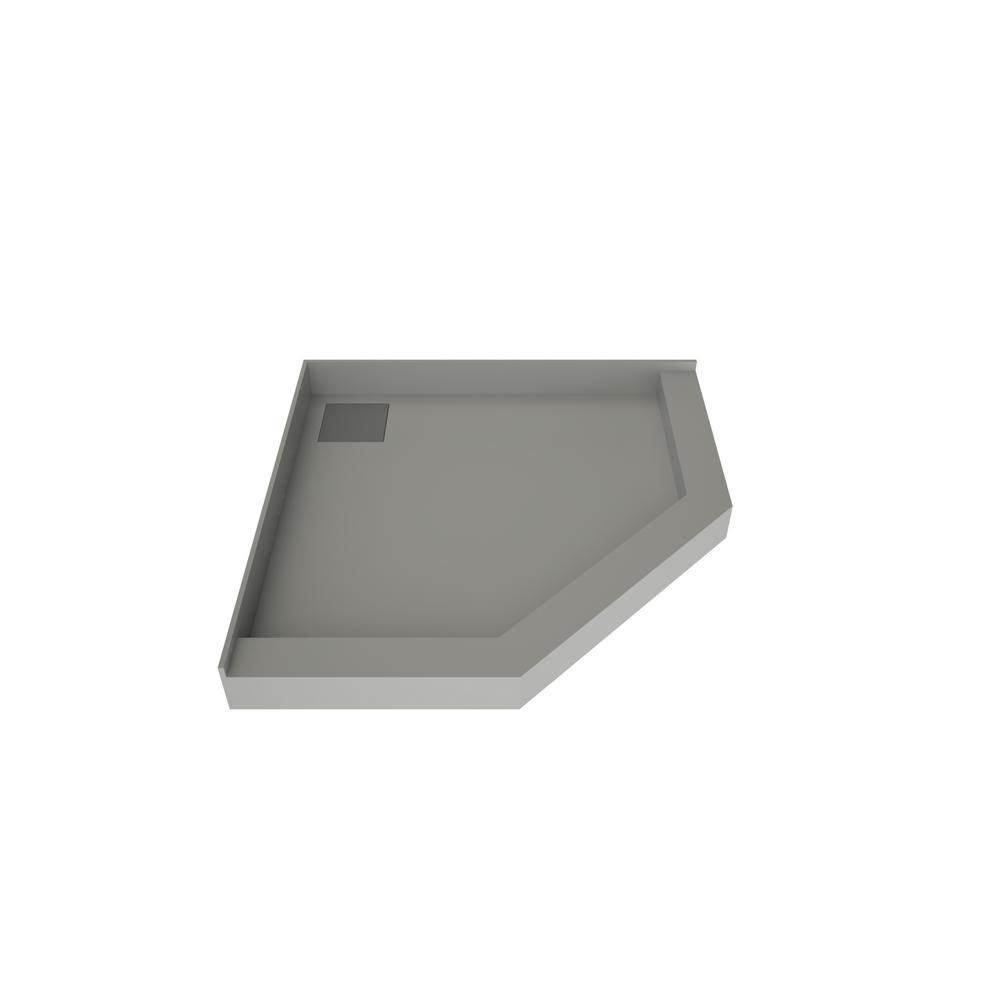 Tile Redi 50 In X 50 In Neo Angle Shower Base With Back Drain