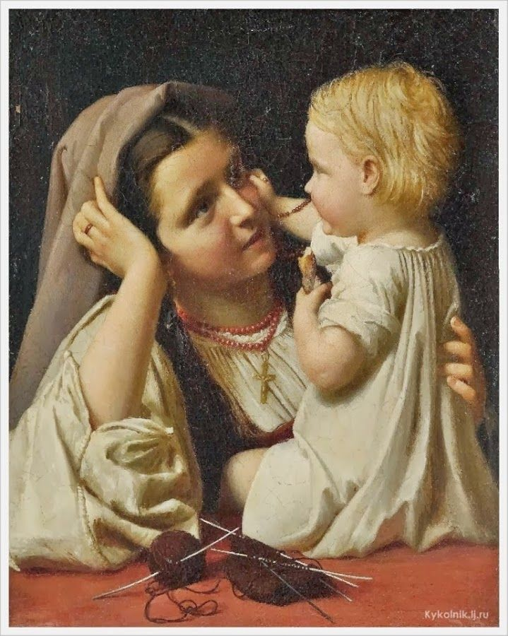 Salvatore Busuttil (Maltese, 1798-1854) «Mother and Child»