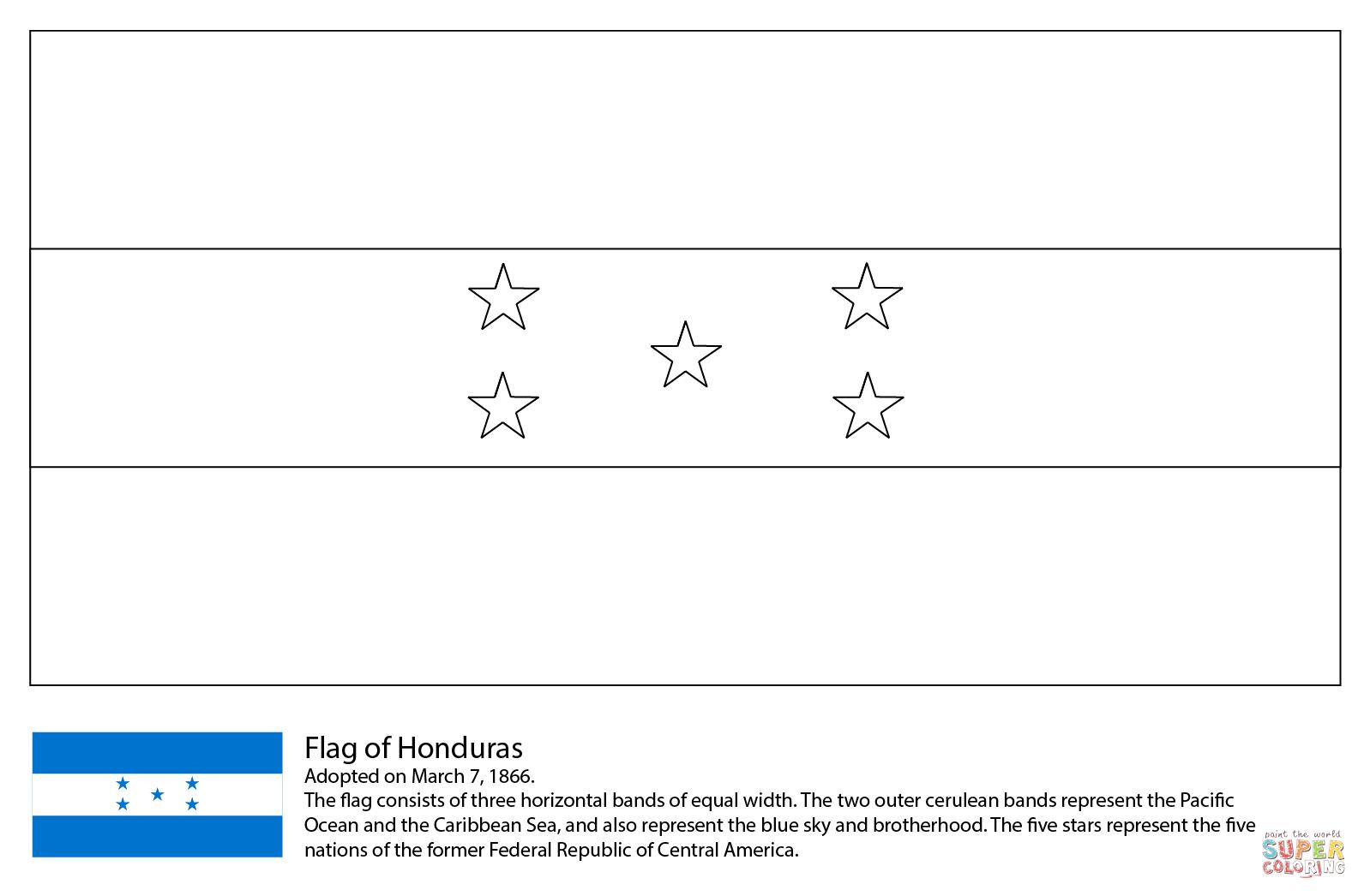 Resultado De Imagen Para Bandera De Honduras Para Colorear