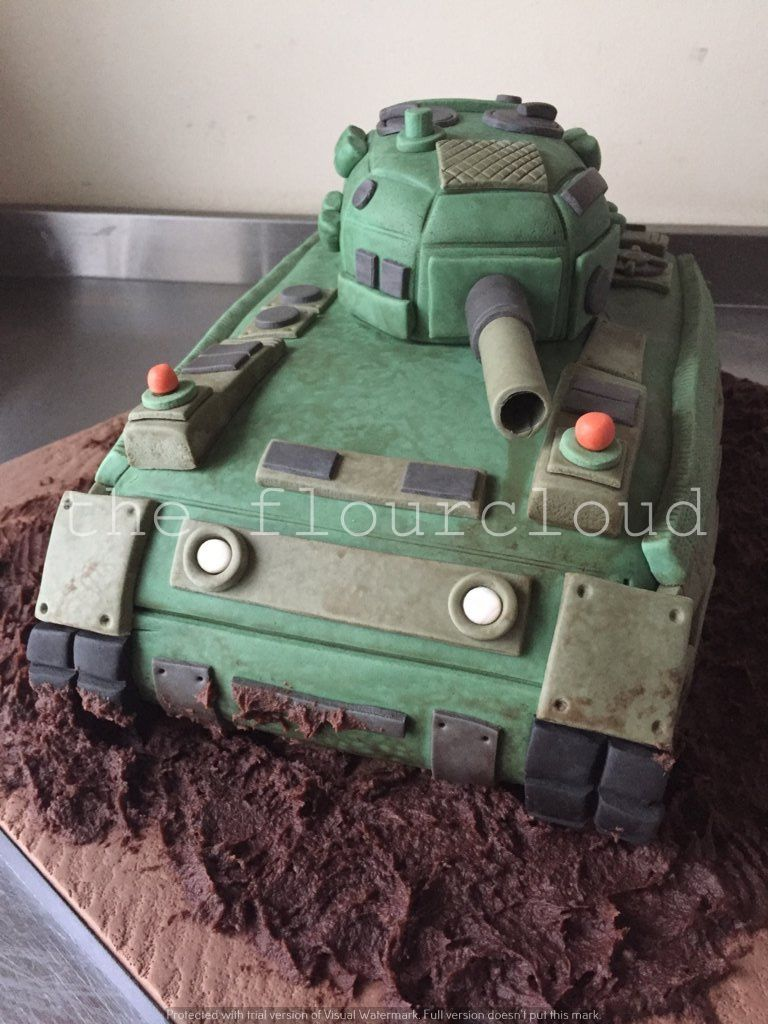Surprising A Cool Tank Birthday Cake Army Birthday Cakes Army Cake Tank Cake Birthday Cards Printable Riciscafe Filternl