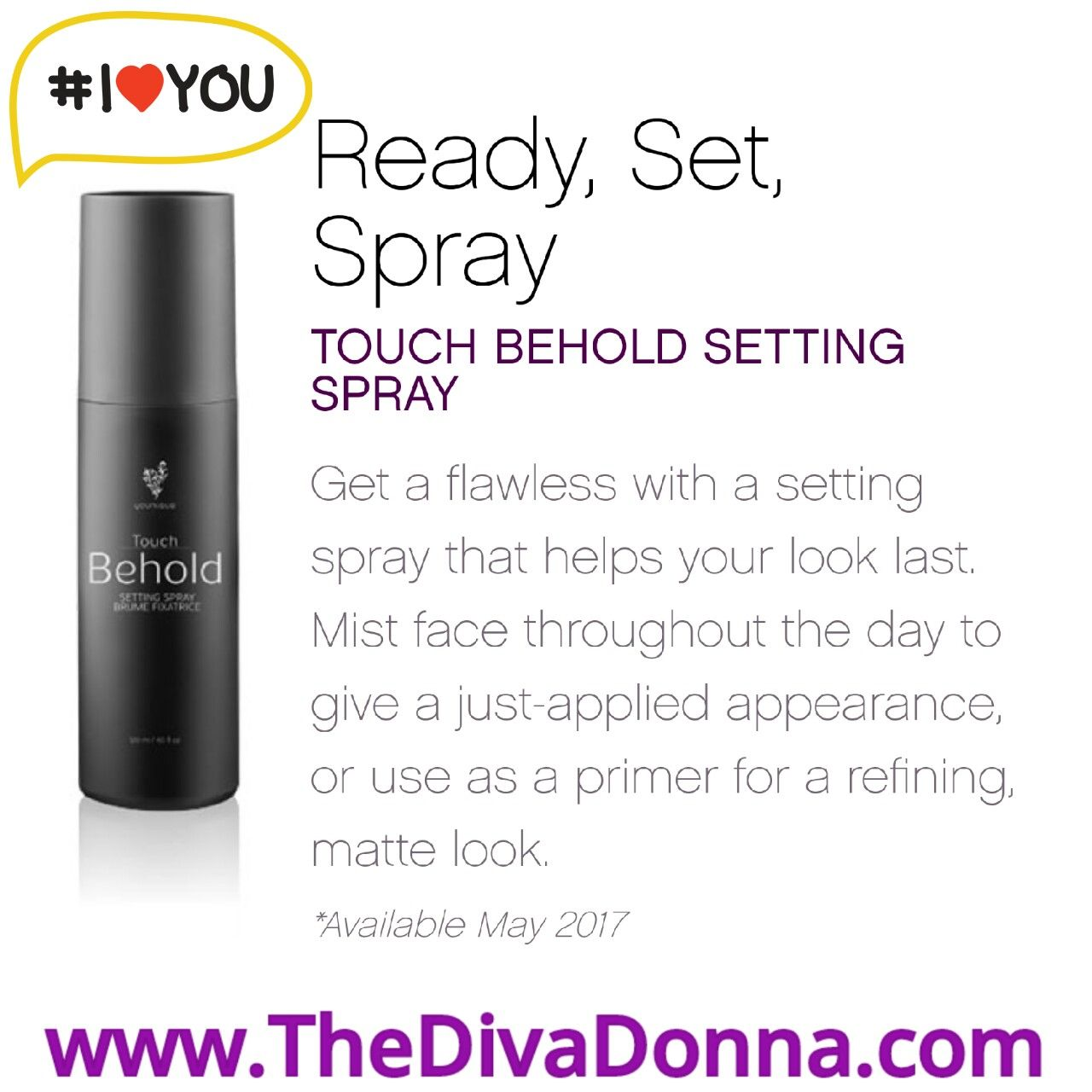 Younique New Product 2017 Touch Behold Setting Spray Www
