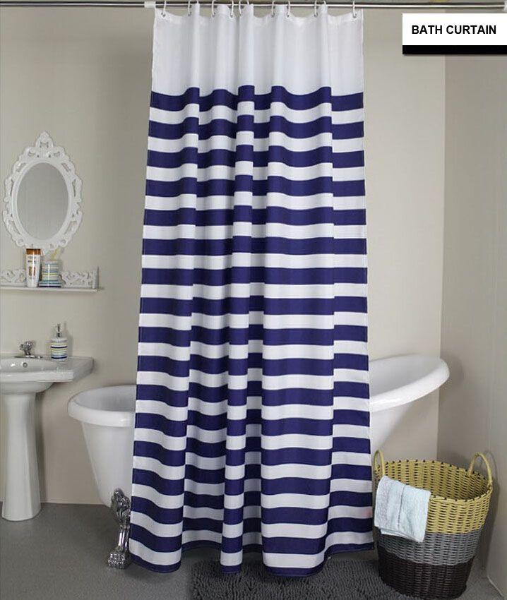 Navy Blue Shower Curtain   Shower Curtain<Simple Desgin ...