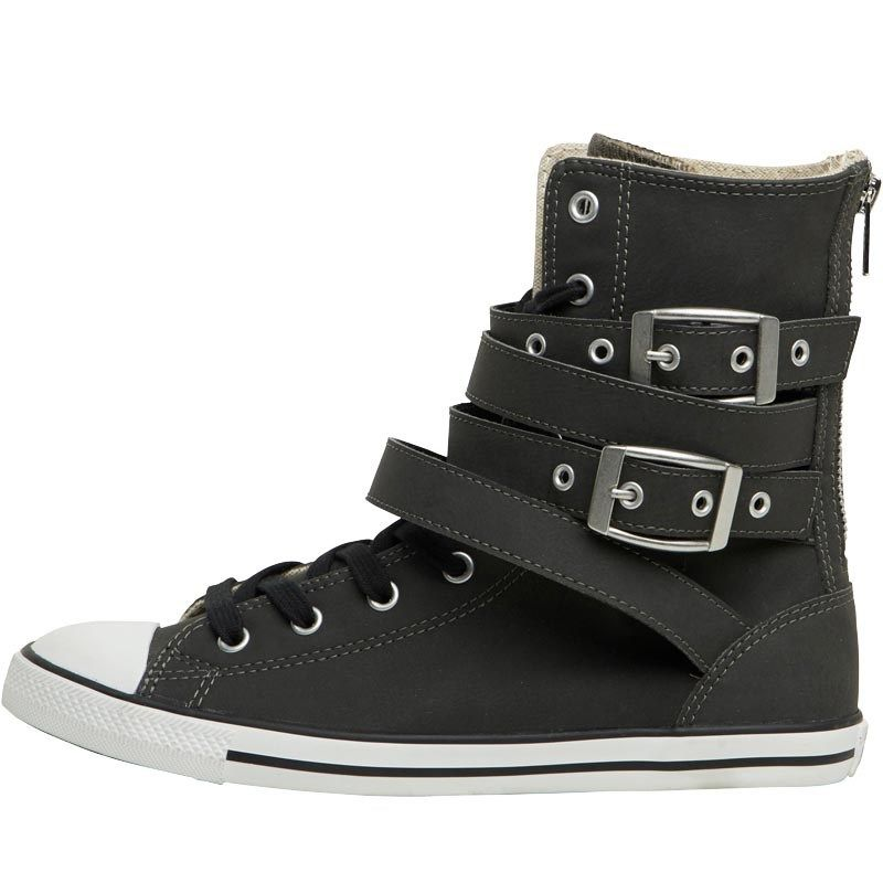231bacd5f0a29a Buy Converse Womens CT All Star X-Hi Sidney Buckle Trainers Black White