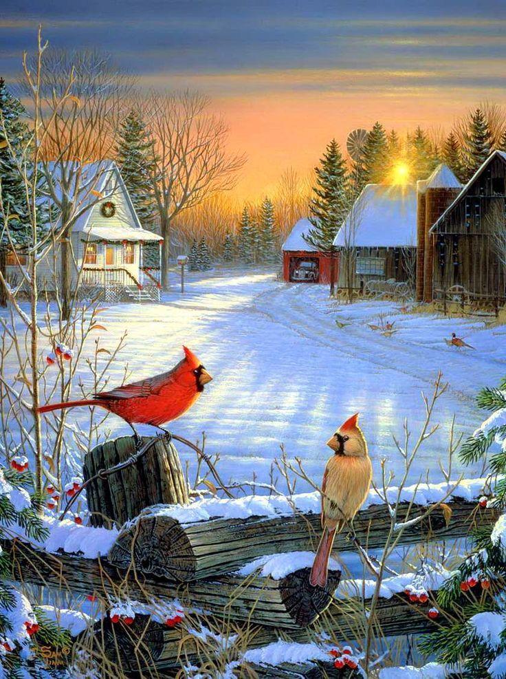 Открытки зимних пейзажей с добрым утром