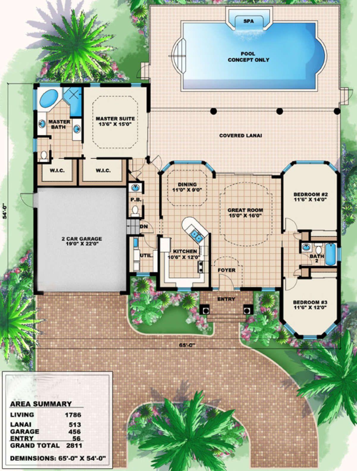 House Plan 1018 00006 Mediterranean Plan 1 786 Square Feet 3 Bedrooms 2 5 Bathrooms Sims 4 House Building Mediterranean Style House Plans Mediterranean House Plans