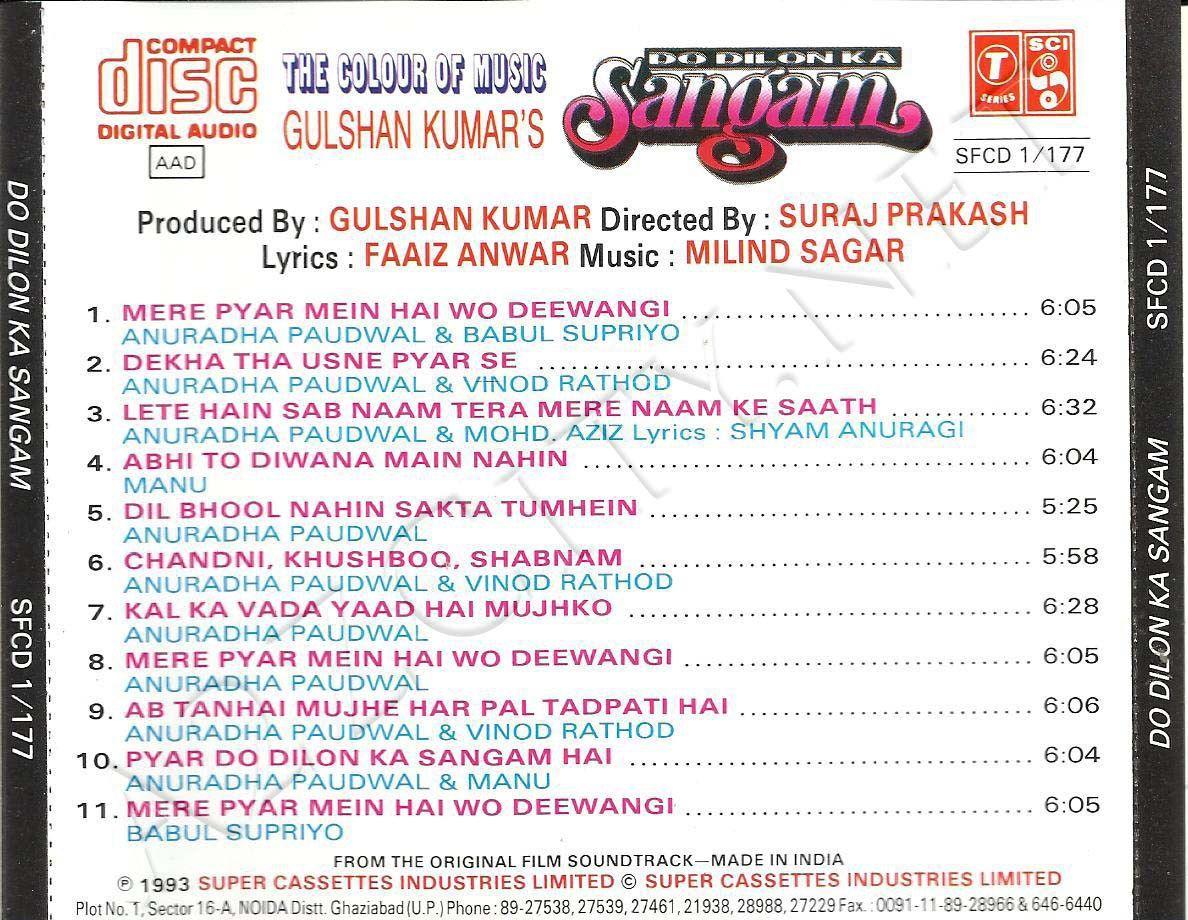 Do Dilon Ka Sangam 1993 Mp3 Vbr 320kbps Artist Album Album