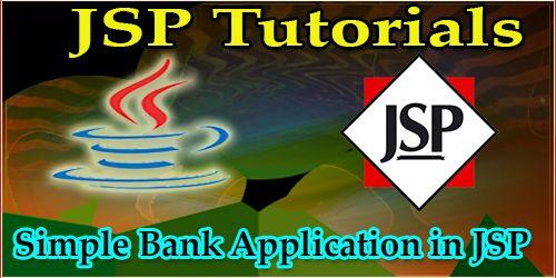 Simple Bank Application in JSP JSP Programming Pinterest - bank application