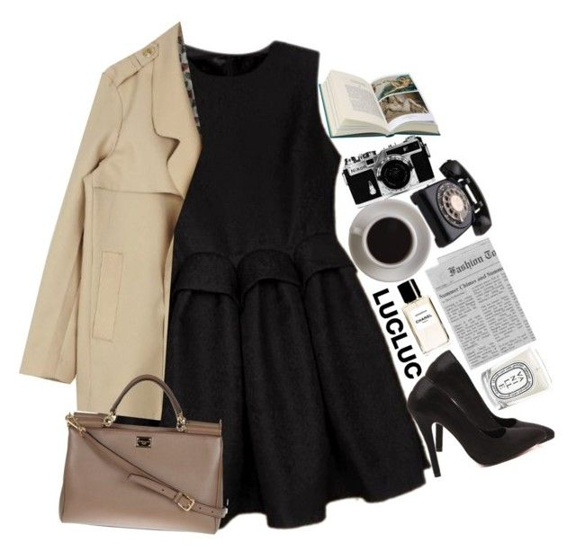 """""""Untitled #2149"""" by sisistyle ❤ liked on Polyvore featuring Dolce&Gabbana, Chanel, Bunn, Diptyque and Nikon"""