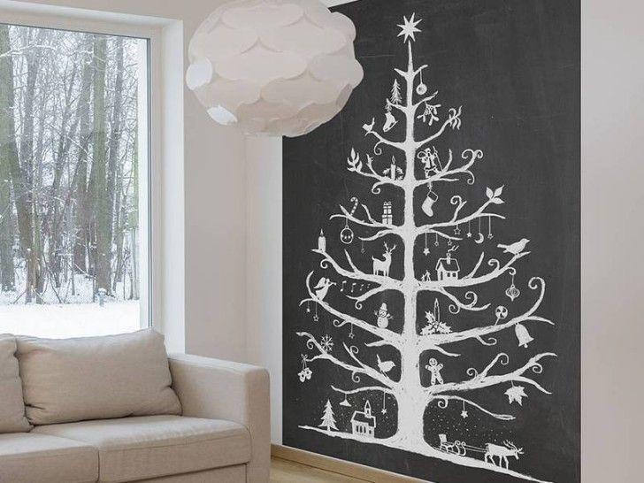 Chalkboard Style Self Adhesive Christmas Tree DIYs  Crafts
