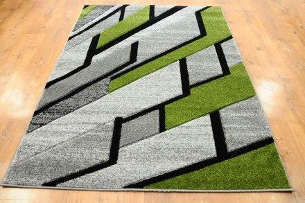 Dywan ściana Szaro Zielona Dywany Ręcznie Wycinane