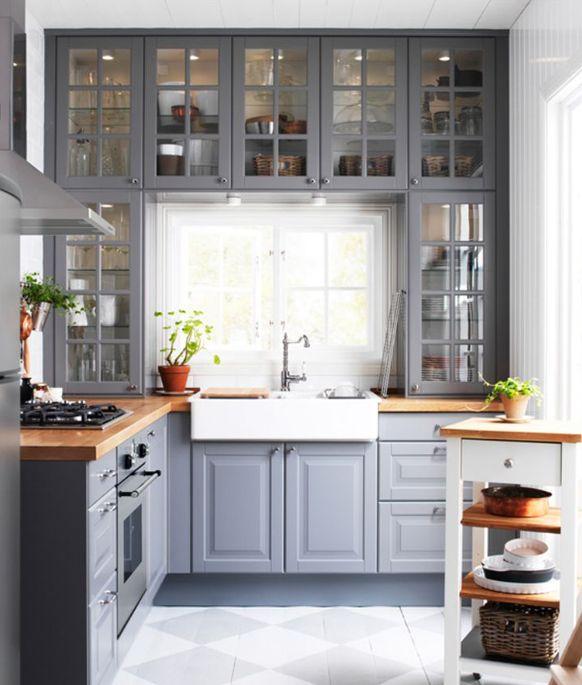 Ikea Kitchen Questions: Gri-Klasik-Mutfak-Dolabı-Modelleri-01.jpg (582×685)