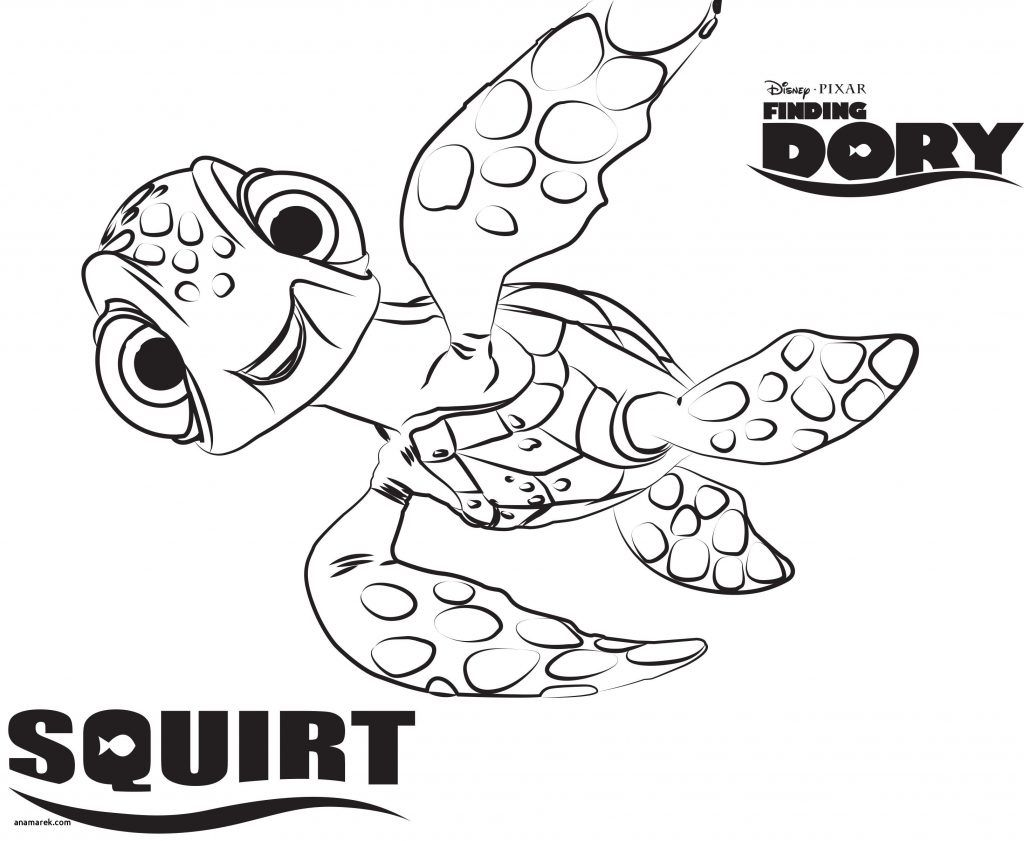 Dory Coloring Pages Valid Finding Nemo Coloring Book Inspirationa