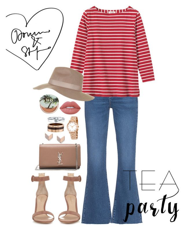 """Sin título #996"" by soniamariaquiroz on Polyvore featuring moda, M.i.h Jeans, Gianvito Rossi, Yves Saint Laurent, Marc by Marc Jacobs, BERRICLE, Toast, FOSSIL, Cartier y Topshop"