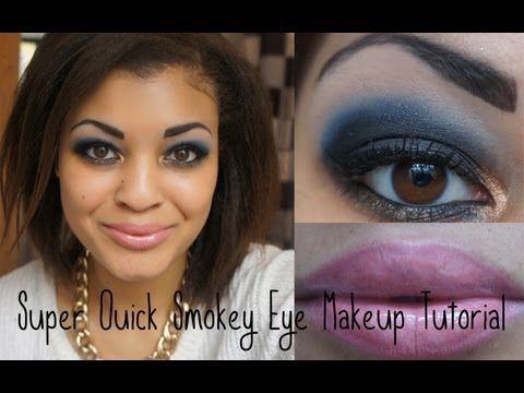 Super Quick Smokey Eye Makeup Tutorial    Pink & Leopard