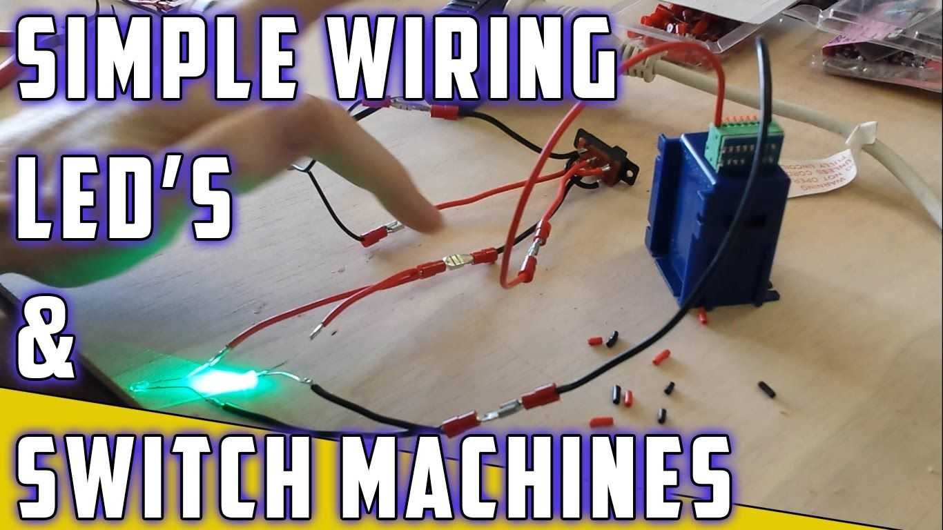 Model Railroad - How To - Switch machine with LED's