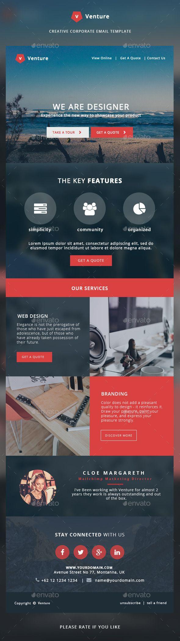 Corporate Email Template Venture Pinterest Template