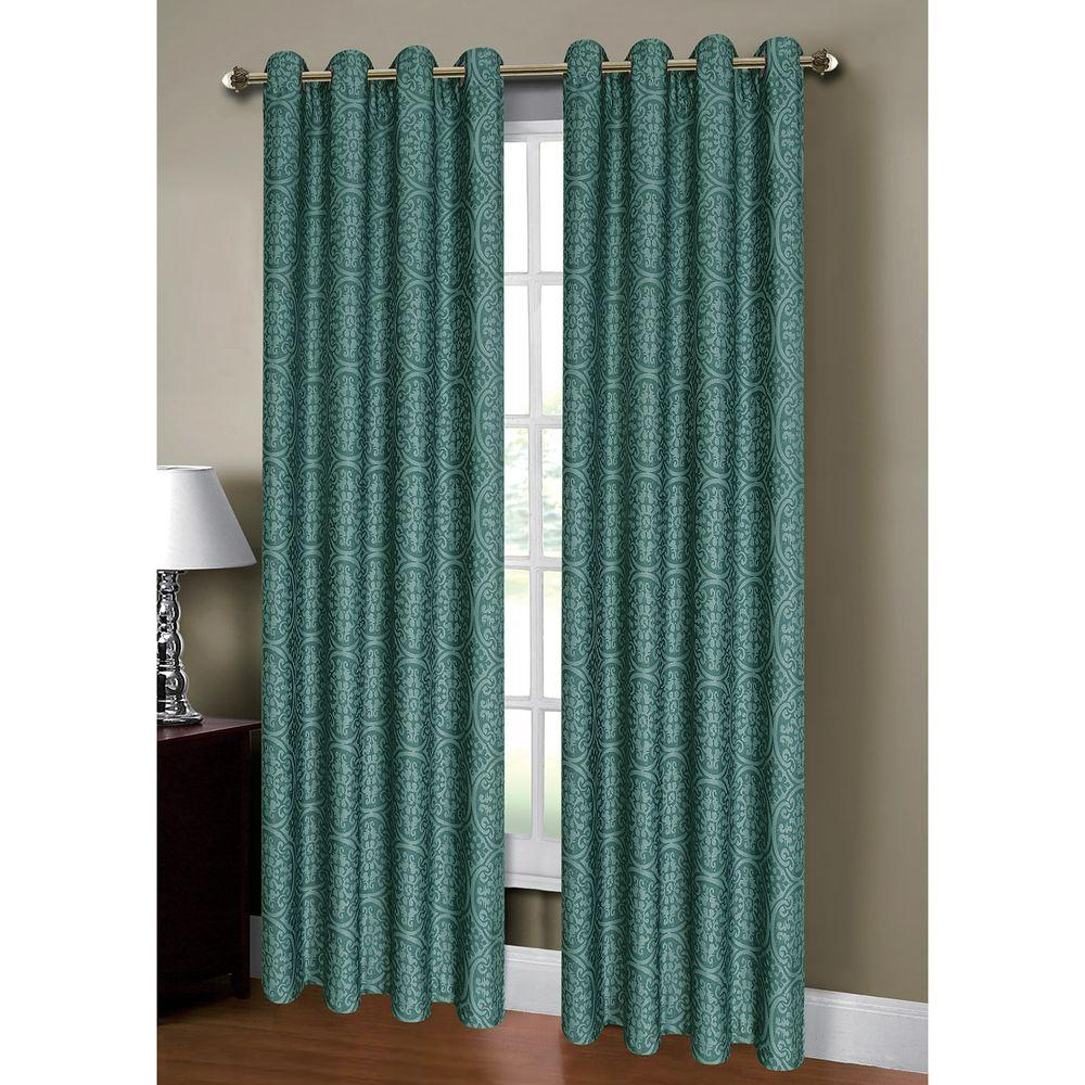 Window Elements Semi Opaque Mirabel Jacquard 54 In W X 84 L Grommet