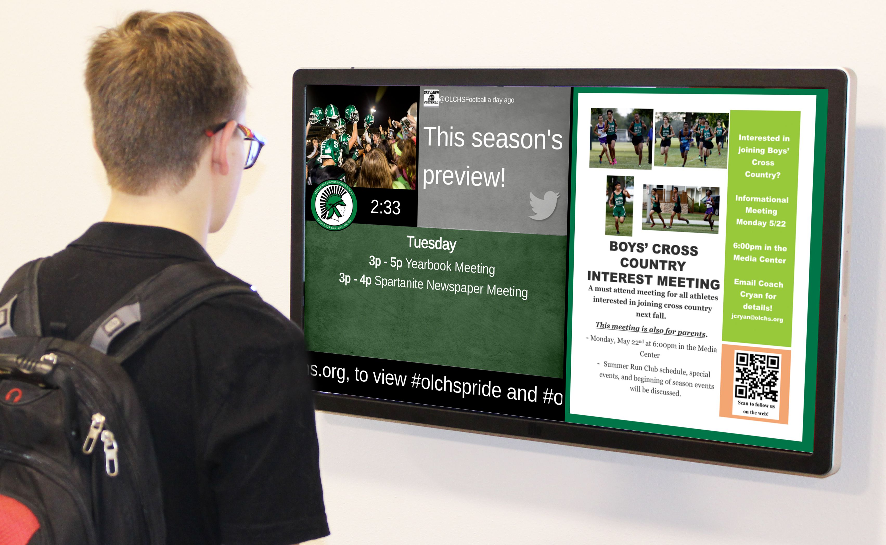 School digital signage with Arreya service lets you control your own  content for reliable, secure