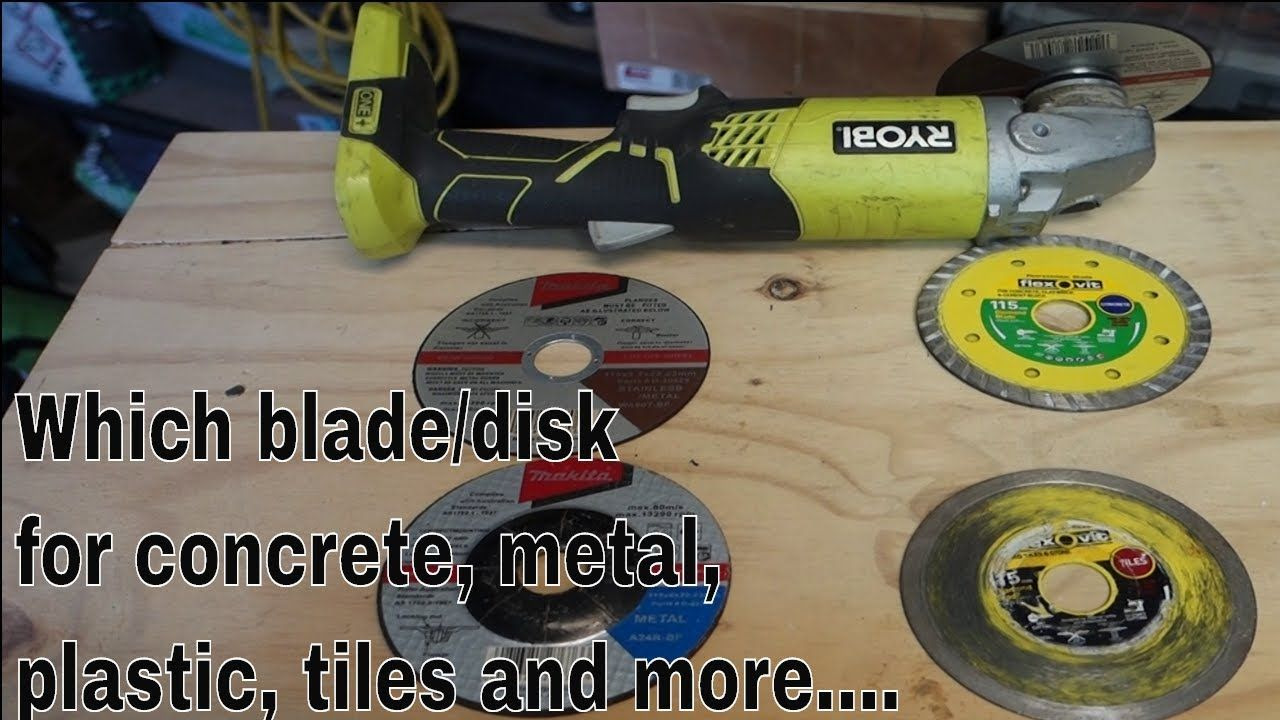 Which angle grinder blade / disk for concrete, plastic