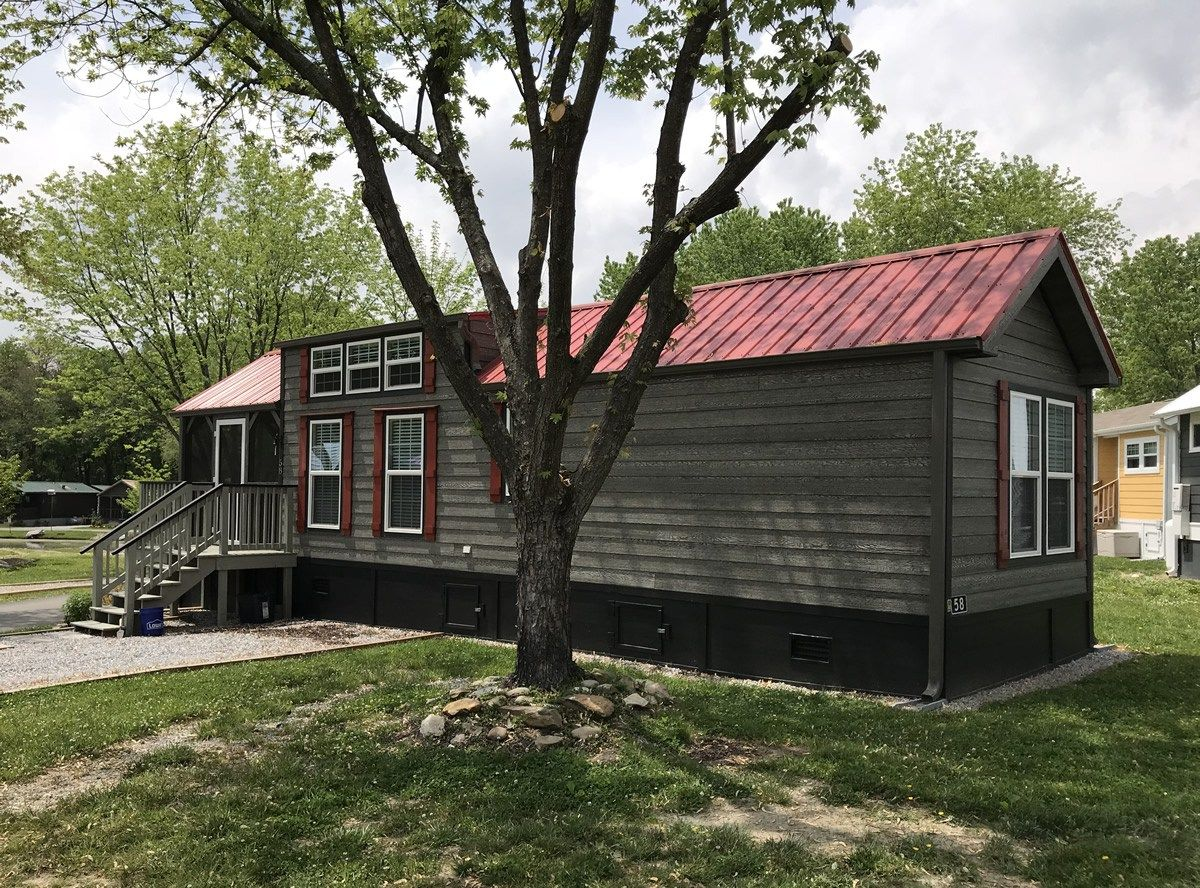 Tiny Cabin with Red Roof and Shutters: More Tiny Houses in the