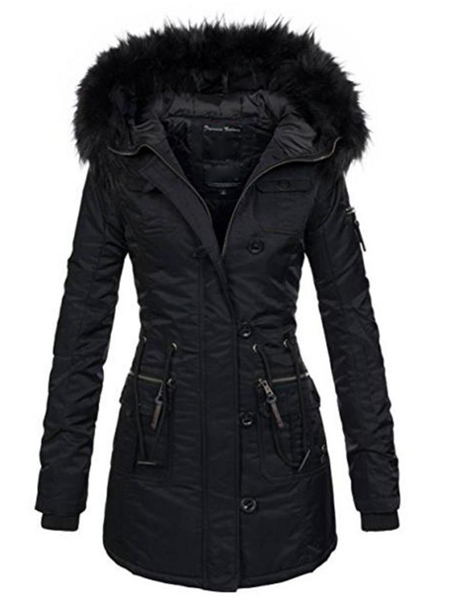 Winter Warme Mantel Damen Teddyfell Winterjacke Jacke Parka 0X8wkNOPn