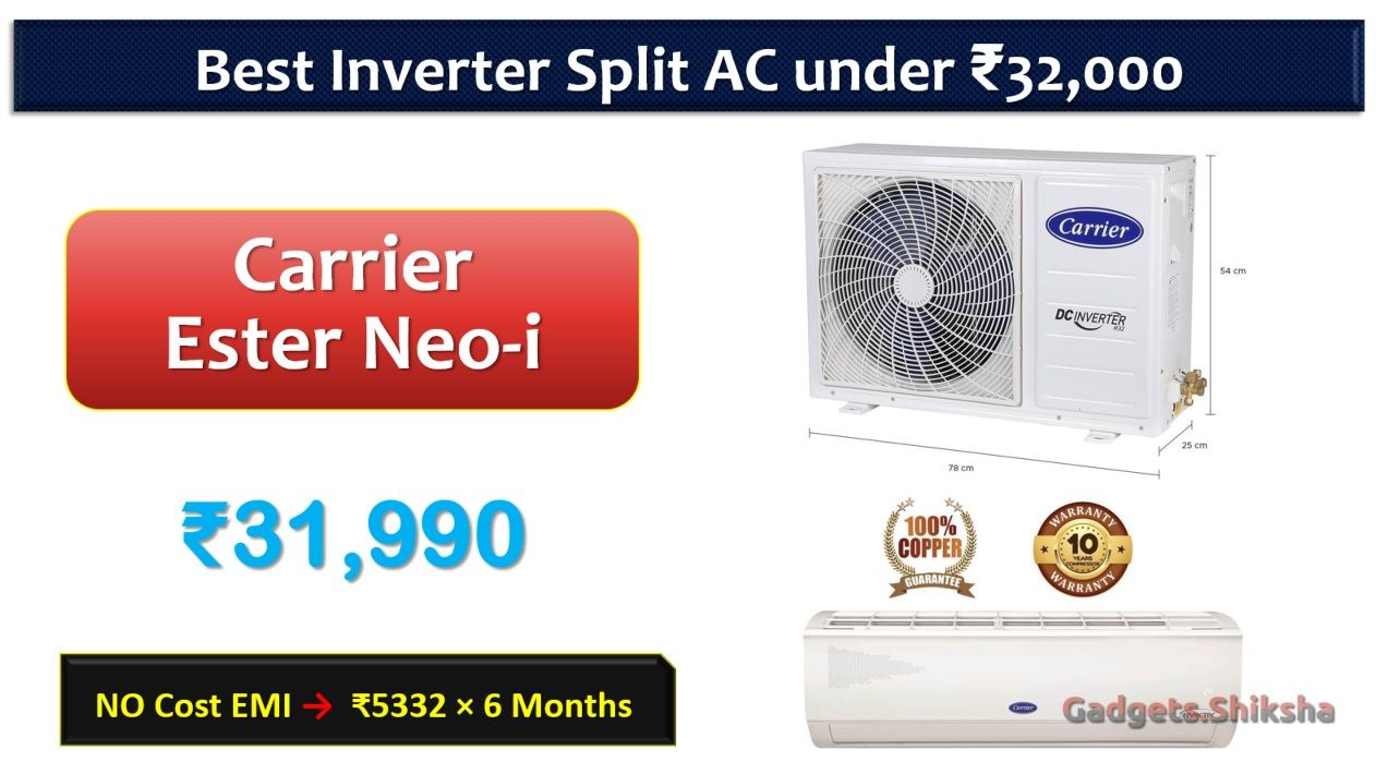 9 Best Air Conditioner under 35000 Rupees in India Market