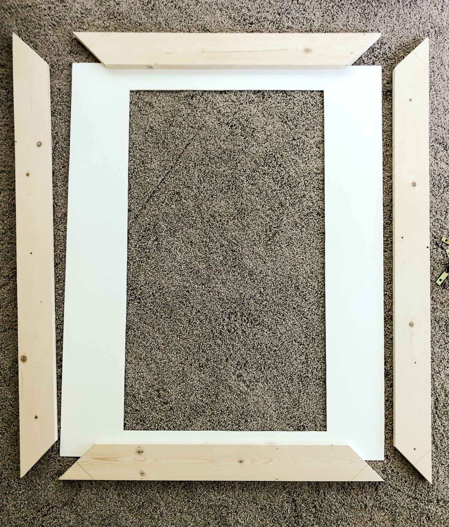Large Frame Mat Oversized Diy Picture Frame With Mat Grace In My Space