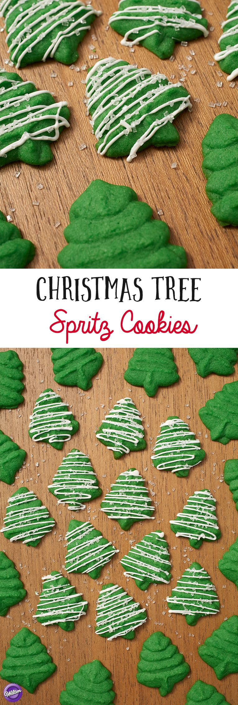 Christmas Tree Spritz Cookies Holiday Cookie Recipes Ideas