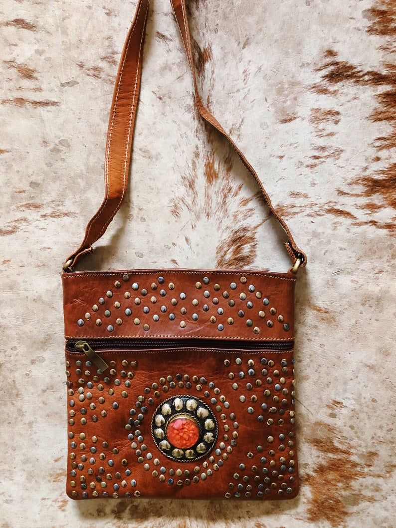 Boho Leather Purse