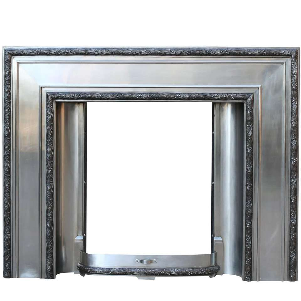 1920s Art Deco Stainless Steel and Cast Iron Fire Surround by Bratt ...