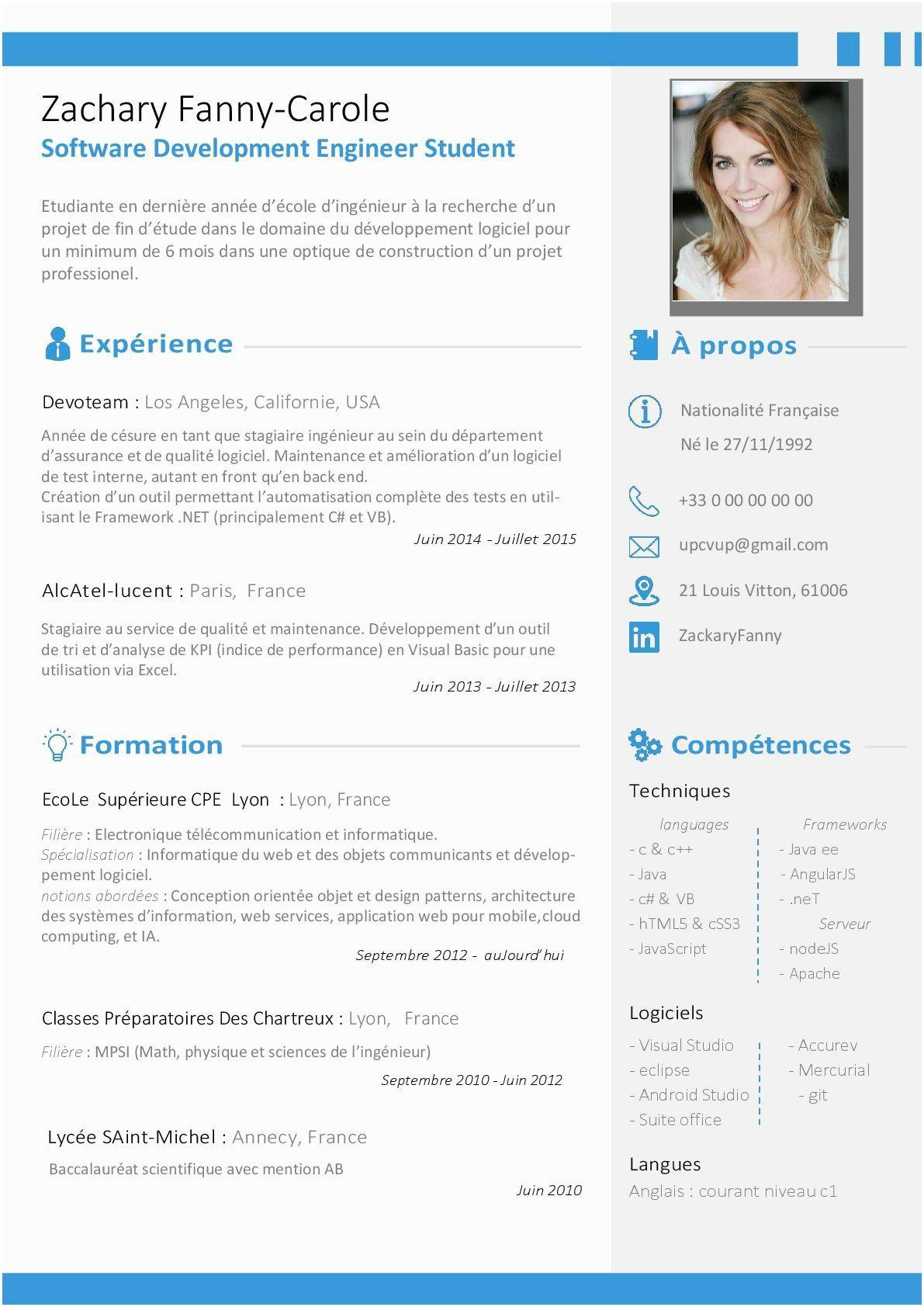 CV Ingénieur Informatique Modèle CV sur mesure moderne ...