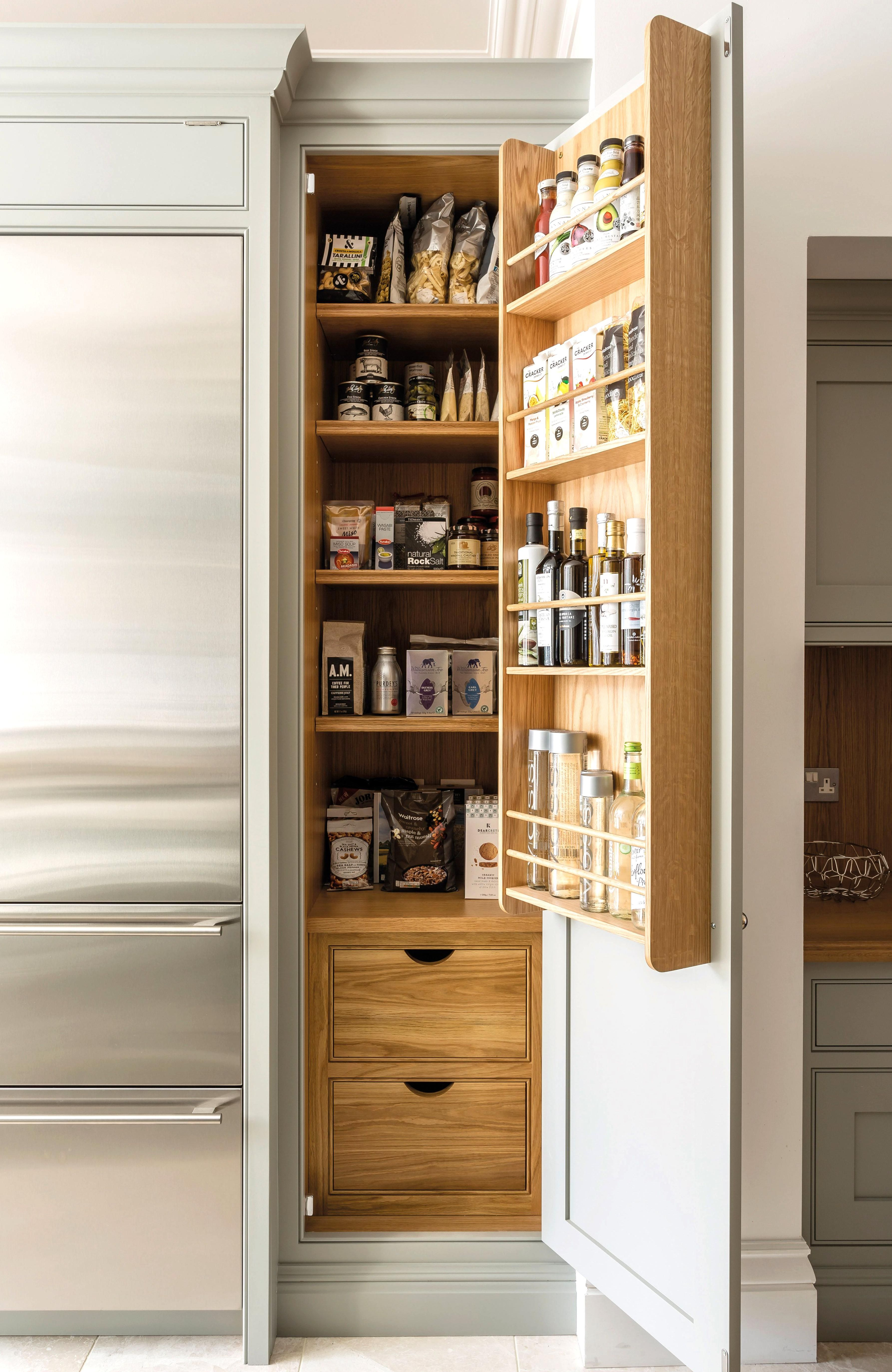 12 Pantry Ideas Larder Cupboard Ideas For Every Kitchen In 2020 Farmhouse Kitchen Tables Pantry Cabinet Kitchen Larder