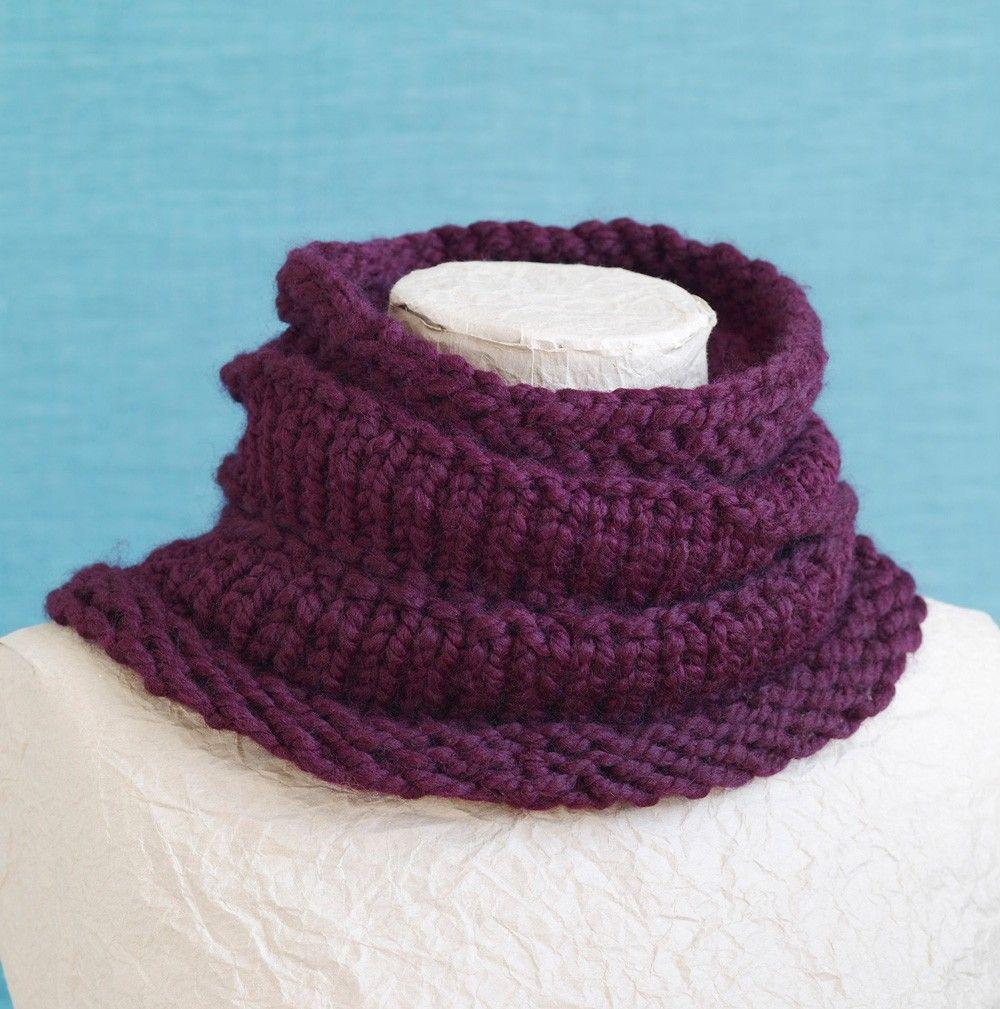 Loom Knit Ridged Cowl | Loom Knitting | Pinterest