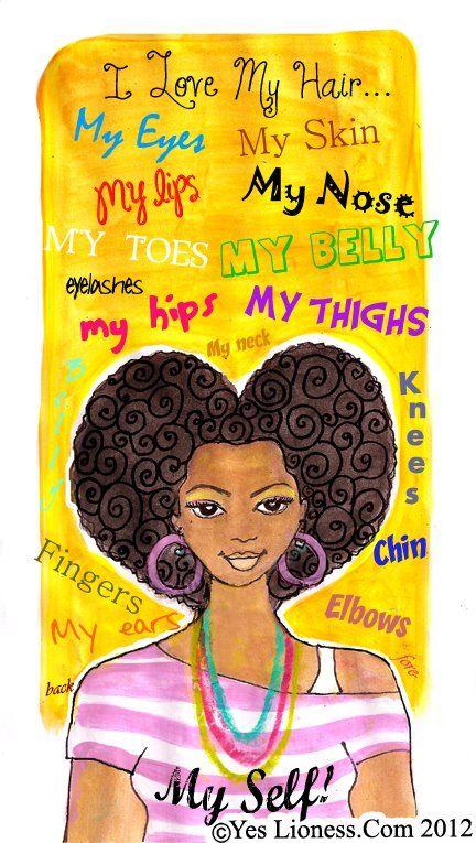 Afro natural hair art