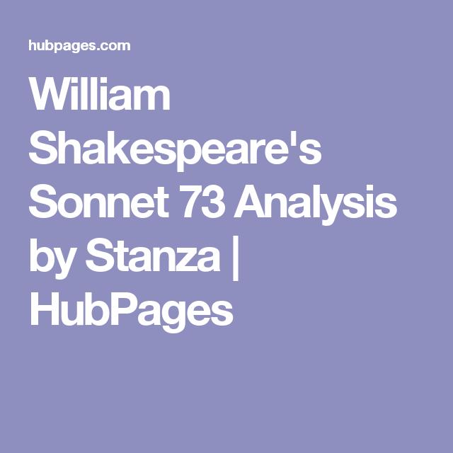 william shakespeare sonnet 73