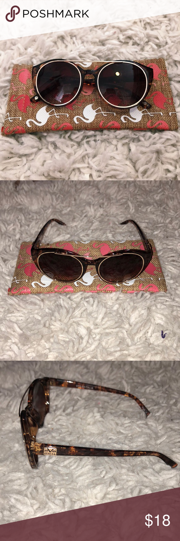 """cc5ea167cd3 Versace 19.69 Sunnies Versace 19.69 Abbigliamento Sportivo Sunnies in  Brown Tortoise. They re the """"Leola"""" style. Never worn. Case not included."""