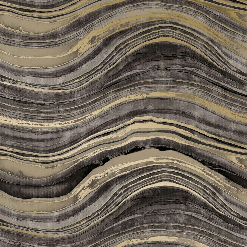Travertine Self Adhesive Wallpaper In Black And Gold Design By Tempape Vinyl Stone Travertine Peel And Stick Wallpaper