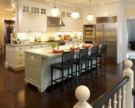 Long Narrow Kitchen With Island Design Pictures Remodel Decor And Ideas Page 10 With Images Chairs For Kitchen Island Home Kitchens Kitchen Island With Seating