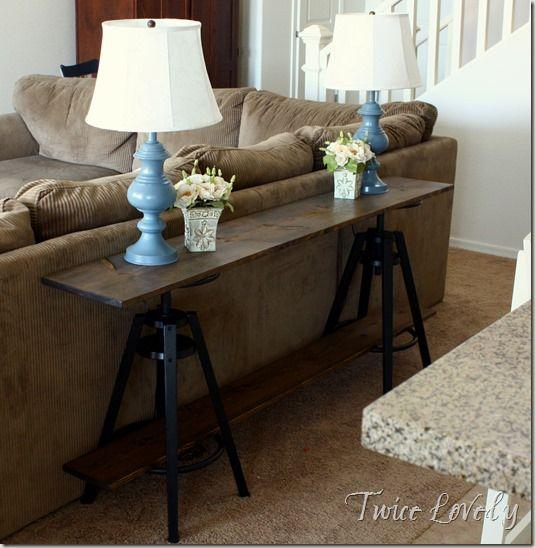 Ikea Hack Sofa Table With Dalfred Stools Diy Sofa Table Ikea